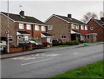 ST3091 : Warning sign - minor junction ahead, Rowan Way, Malpas, Newport by Jaggery
