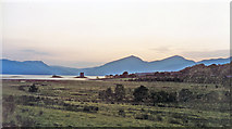 NM9247 : Evening scene at Portnacroish past Castle Stalker across Loch Linnhe to Morven by Ben Brooksbank