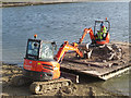 SP9113 : Repairing Startops Reservoir (14) Unloading the Rocks by Chris Reynolds