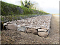 SP9113 : Repairing Startops Reservoir (19) The Finished SW Breakwater by Chris Reynolds