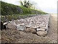 SP9113 : Repairing Startops Reservoir (19) The Finished SW Breakwater by Chris Reynolds