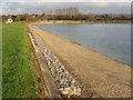 SP9113 : Repairing Startops Reservoir (20) The Finished NW Breakwater by Chris Reynolds