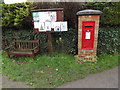 TL3856 : Swaynes Lane George VI Postbox & Comberton Village Notice Board by Adrian Cable