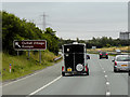 SE4223 : M62 Eastbound near Castleford by David Dixon