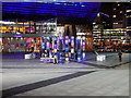 SJ8097 : Interactive Light Sculpture Outside the Lowry Centre by David Dixon