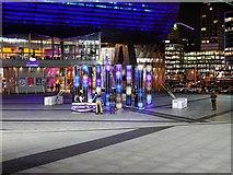 SJ8097 : Interactive Light Sculpture Outside the Lowry Centre by David Dixon
