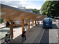 SU4215 : Bus stand and canopy, Highfield Campus, University of Southampton by Robin Stott