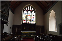 TQ4210 : Stained glass window, Church of St Thomas a Becket by N Chadwick