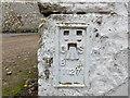 NT8331 : Ordnance Survey Flush Bracket 11271 by Peter Wood