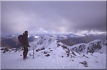NN1454 : Summit, Stob Coire nan Lochan by Richard Webb