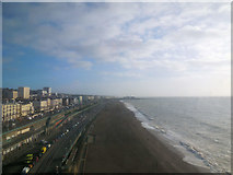TQ3103 : Looking east from Brighton Wheel by Paul Gillett