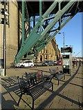 NZ2563 : Commemorative seats below Tyne Bridge by Andrew Curtis