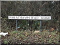 TL1513 : Wheathampstead Road sign by Adrian Cable