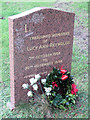 SP9111 : An Advent Wreath on a grave in Tring Cemetery by Chris Reynolds