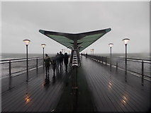 SZ1191 : Boscombe: a windy, drizzly Christmas walk on the pier by Chris Downer