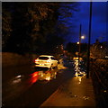SE2437 : Flood in Outwood Lane, Horsforth, Boxing Day 2015 (2) by Rich Tea