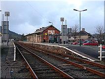 SH5639 : Porthmadog Station by John Lucas