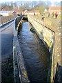 SE7971 : River  Derwent  in  flood  at  Malton  27th  Dec  2015  (9) by Martin Dawes