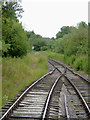 SK0352 : Railway track at Ipstones, Staffordshire by Roger  Kidd