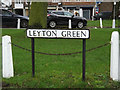 TL1314 : Leyton Green sign by Adrian Cable