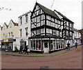 SO7225 : Black and white corner in Newent town centre by Jaggery