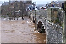 NT2540 : River Tweed in flood, Peebles by Jim Barton