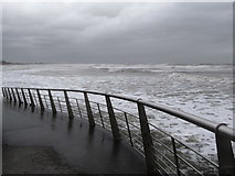 J3730 : Rough sea off Central Promenade, Newcastle by Eric Jones