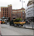 ST3088 : Potted shrubs in a council lorry, Queensway, Newport by Jaggery