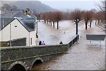 NT2540 : Flooding across Tweed Green, Peebles (2) by Jim Barton