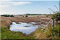 NU1236 : Wet field entrance by Ian Capper