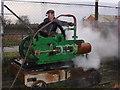 SK2625 : Claymills Victorian Pumping Station - steam winch test by Chris Allen