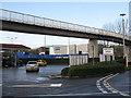 ST8557 : Footbridge over County Way by M J Richardson