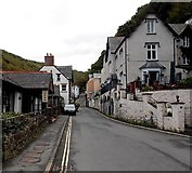 SS7249 : Not a lane but an A road, Lynmouth by Jaggery