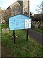 TM3389 : St.Mary's Church sign by Geographer