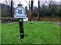 J3268 : National Trust sign, Minnowburn by Kenneth  Allen