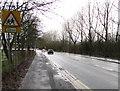 ST3090 : Warning sign - school ahead, Bettws Lane, Newport by Jaggery