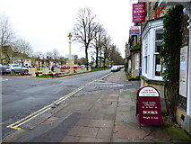 SP3509 : War memorial and bookshop, Church Green by Vieve Forward