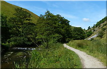 SK1357 : Path along the River Dove in Wolfscote Dale by Mat Fascione