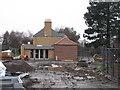 NT2475 : Rebuilding the Botanic Cottage by M J Richardson