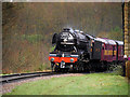 SD7914 : Flying Scotsman Rounds the Curve at Summerseat by David Dixon