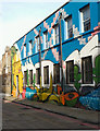 TQ3476 : Mural, Mission Place, Peckham by Julian Osley