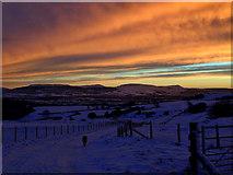 NZ5812 : Brilliant sunset after a day of sleet by Mick Garratt