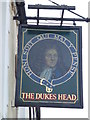 TF4609 : The Dukes Head (Sign) - Public Houses, Inns and Taverns of Wisbech by Richard Humphrey