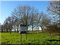 TL4971 : Sign for Willow Grange Farm, Chittering by Richard Humphrey