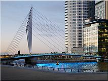 SJ8097 : MediaCity Footbridge by David Dixon