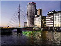 SJ8097 : Bridge to MediaCityUK by David Dixon