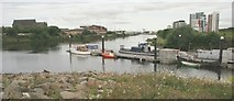 NS5565 : Landing stage for the ferry to Govan by Richard Sutcliffe
