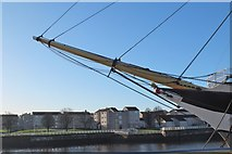 NS5565 : Bowsprit and figurehead, SV Glenlee by Jim Barton