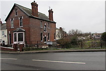 SO5140 : House above a long disused canal, Hereford by Jaggery