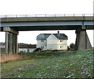 TM4599 : House beside Haddiscoe Cut Bridge by Evelyn Simak